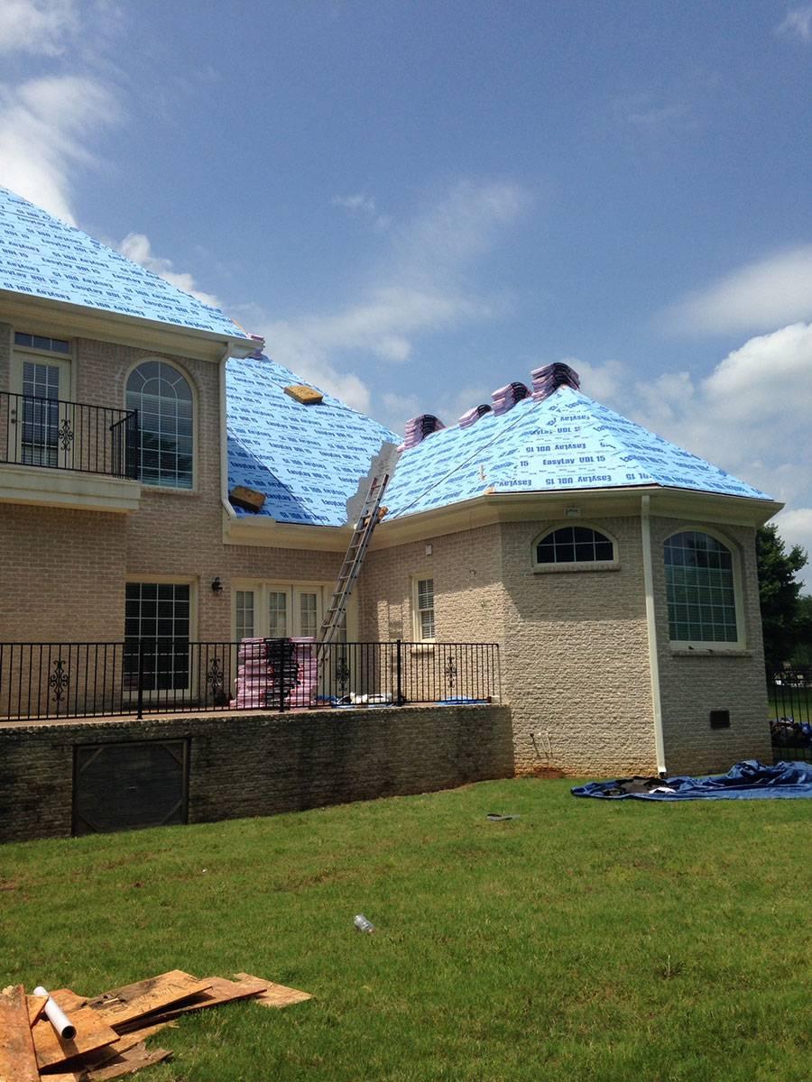 shingle roof in progress for a Birmingham AL home